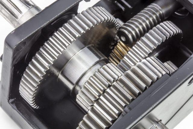 autobox doorsnede van de reductor-staal en brons zoals het hoort