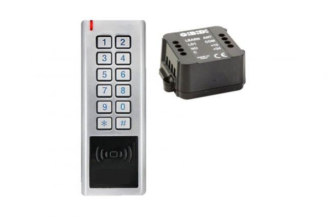 draadloos codeklavier met kaartlezer en ontvanger 99101ROL