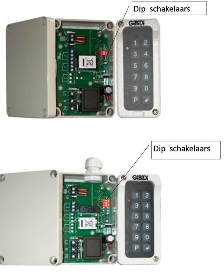 99009-99002-99003-indicatie van de dipschakelaars