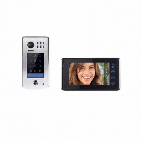 Videofoon kit 2 draads SEE EASY met ingebouwd codeklavier