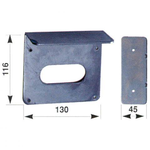 Montageplaat voor elektrisch slot ISB605