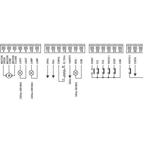 BA100 analoge stuurkast voor 1 motor