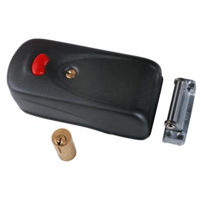 cisa-haakslot rim lock met drukknop voor ontgrendeling langs binnen 1A137