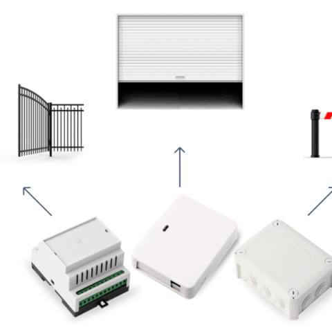 ESIM320 GSM afstandsbediening met 2 uitgangen en 3 ingangen