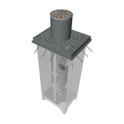 Gibidi hydraulische verkeerspaal diameter 275mm TOUCHE276