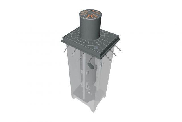 funderingskast voor gibidi verkeerspaal met diameter 275 mm 85201